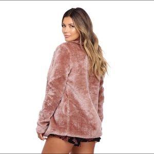 Windsor Jackets & Coats - Windsor Mauve Faux Fur Jacket