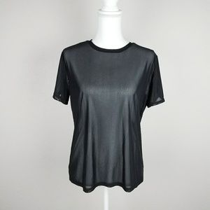 Nwt Sheer Black Mesh Short Sleeve Tee Raver Street