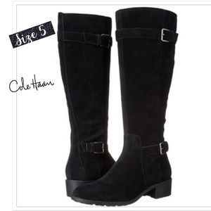 Cole Haan Woman's Black Putnam Waterproof Boots
