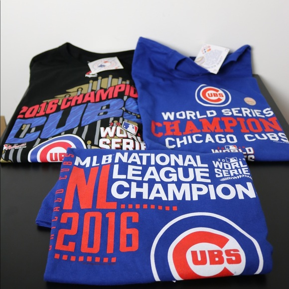 b4f2f48c3 Chicago Cubs World Series Champions t-shirt lot
