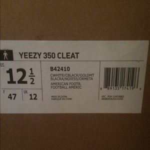 4fd42da49c280 adidas Shoes - Adidas Yeezy 350 Turtle Dove cleats size 12.5