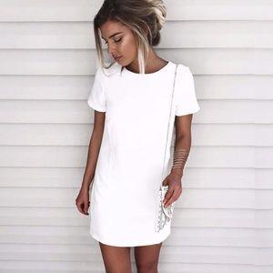 NWT Lulu's Chic Ivory Shift Dress