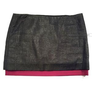 Diane Von Furstenberg Elley Mini Weave Silk Skirt
