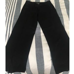 Banana Republic Factory Black Wide-leg Trousers