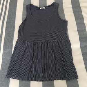Old Navy Striped Peplum Tank