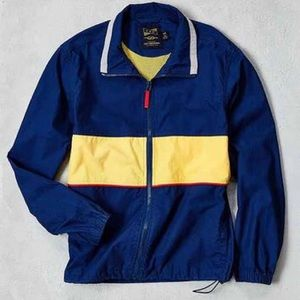 CPO Retro Colorblock Mock-Neck jacket.