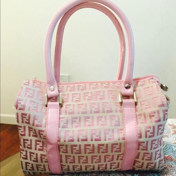 Fendi Handbags - Pink vintage fendi monogram bowler bag
