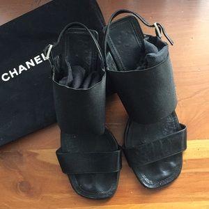 Vintage Chanel Sandals w/ kitten heel