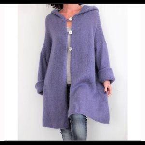 Soft Surroundings aqua hooded sweater