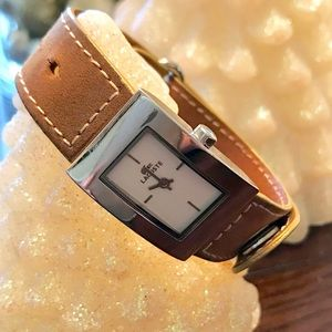 Authentic LACOSTE Leather Wrap Watch
