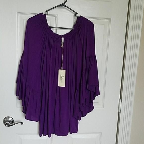 ed9b32f575a41 Elan Purple Off The Shoulder Top NWT