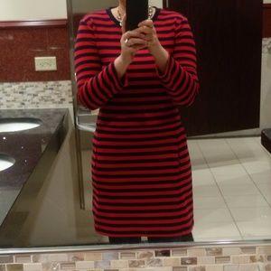 GAP Navy Red Stripe Dress