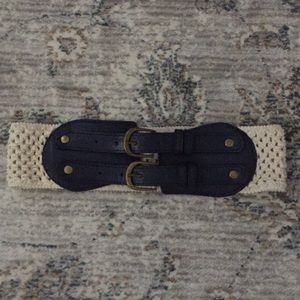 Navy and Tan Belt