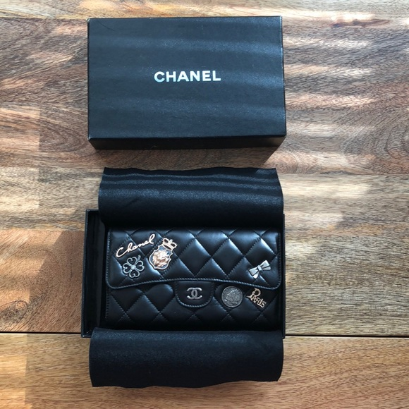 1beb6ac95825 CHANEL Bags | Quilted Calfskin Lucky Charms Long Wallet | Poshmark