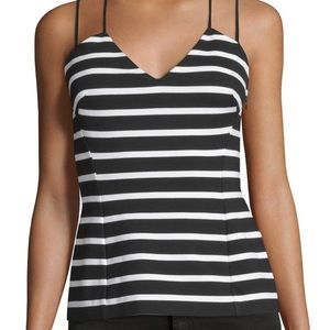 Black and White Striped Top Size M NWT