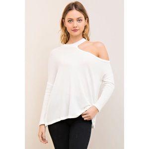 Tops - •LOWEST• Boutique White Off Shoulder Top