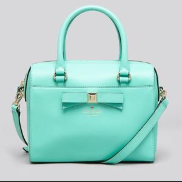 194677016 kate spade Bags | Gorgeous Tiffany Blue Bow Handbag 3 | Poshmark