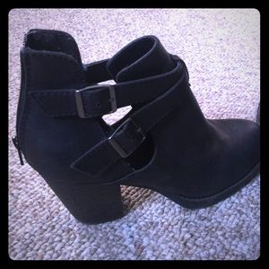 Shoes - Sexy black cut out booties