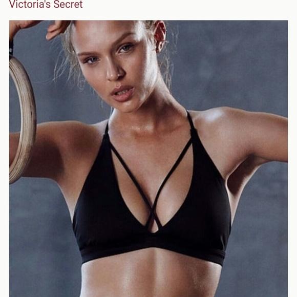 b8ce4ee325811 Strappy Triangle Sport Bra Victoria s Secret