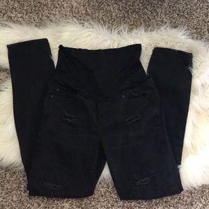 Denim - Adorable black skinny maternity jeans