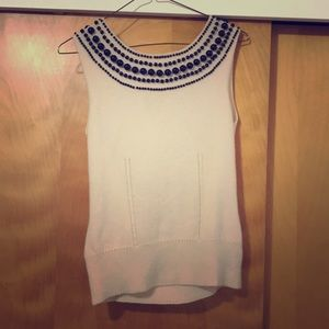 Cashmere and beaded Molly tank