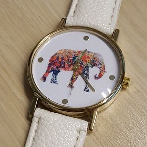 NWOT floral elephant watch