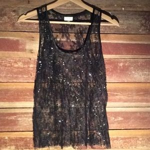 Ruth sequin/lace tank