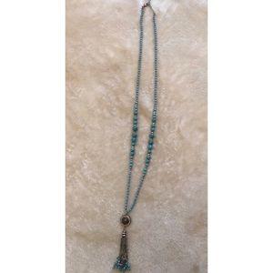 Light Blue Long Necklace