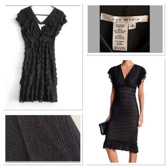 Max Studio Dresses Ruffled Stretch Lace Dress Poshmark