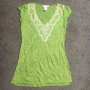 Tops - Short sleeve green shirt