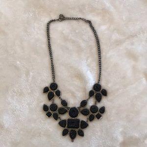 Black Sparkly Statement Necklace