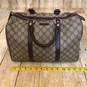 Authentic Gucci Brown Boston Bag