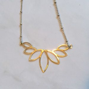Old Navy Jewelry - Delicate Gold tone Short Lotus Necklace