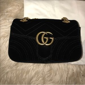 e5408e44c341 Gucci Bags | Authentic Marmont Velvet Mini Shoulder Bag | Poshmark