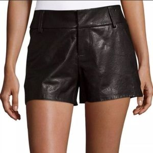 ✨•Alice & Olivia• Leather Shorts