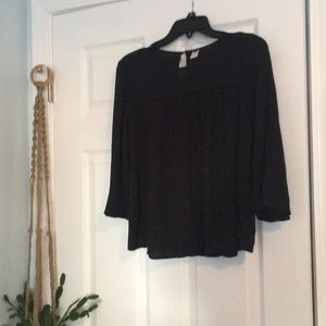 Old Navy Tops - Peasant Blouse with Peekaboo Eyelet details