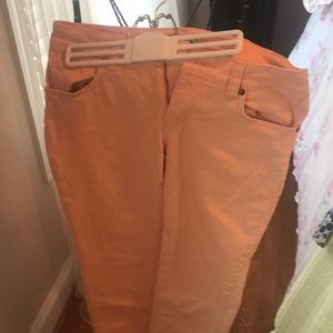 Peach color cabi jeans! Like new worn once!