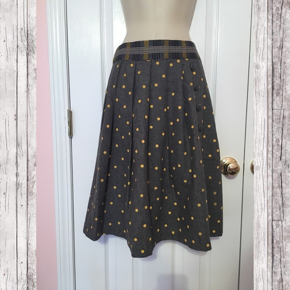 3bb4a2790 Anthropologie Skirts   Plenty By Tracy Reese Yellow Polka Dot Skirt ...