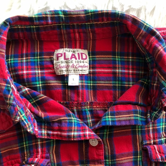 Old Navy Tops - Old Navy • Plaid Button Down