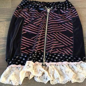 Dresses & Skirts - Funky velvet glitter embroidered skirt