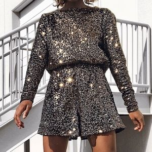 Pants - Sequined Playsuit