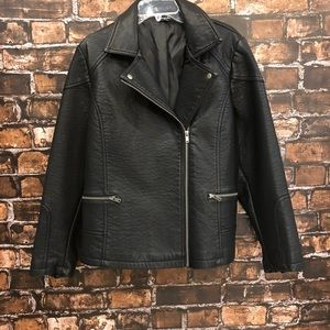 Women's 20 Black Simply Be faux Leather jacket🖤