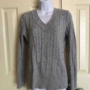 LOFT/Ann Taylor Sweater with Metallic Silver