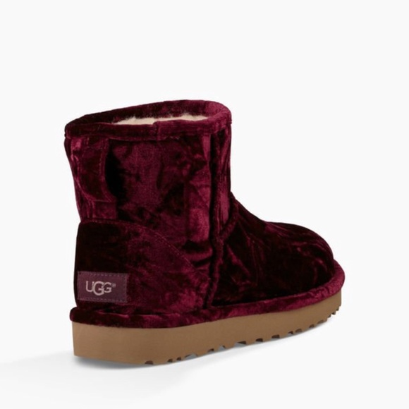 145af85435e NEW UGGS!! Classic mini crushed velvet in FIG SZ 7 NWT