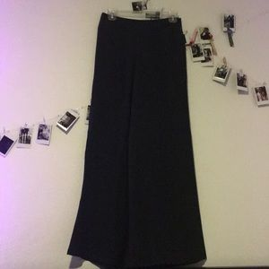 100% silk wide leg pants
