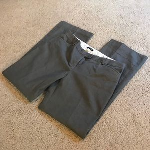 J Crew Grey  Cotton Pants/Slight Metallic Glow