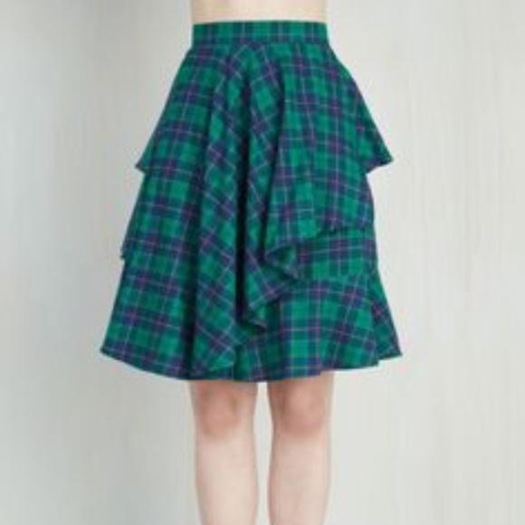 b349938984 Modcloth Myrtlewood Flannel Plaid Ruffle Skirt. M_5a1c68492ba50a157c0d0ea5
