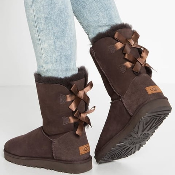 1c0fb1e296a NEW UGG BAILEY BOW II CHOCOLATE. Without box. NWT