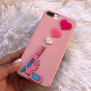 iPhone 6/7 Plus Case Gun Heart Cute