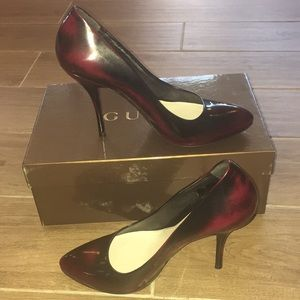 Gucci leather black and red ombré Pumps